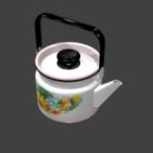 Asian Enameled Teapot