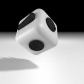 Plastic Fidget Cube
