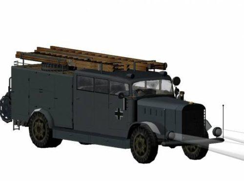 Ww2 Fire Truck German Benz Ks25