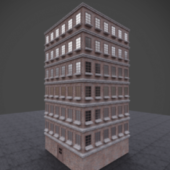 Low Poly High Rise Building