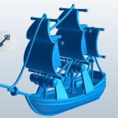 Rrigged Pinnace Sailing Boat