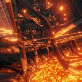 Geothermal Steam Factory Scene