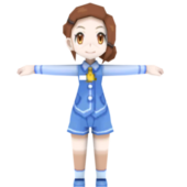 Gift Delivery Girl Pokemon Character
