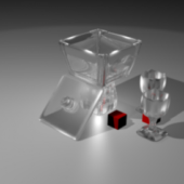 Glass Candy Container