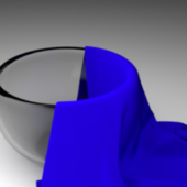 Glass Bowl With Cloth