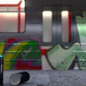 Graffiti Metro Scene