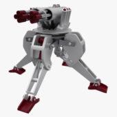 Sci Fi Military Gun