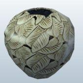 Vase Leaf Decoration