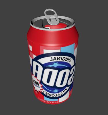 High Detail Soda Can