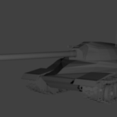 Lowpoly Is-7 Tank