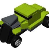Lego Rod Rider Car Lowpoly