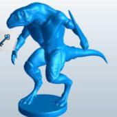 Lizard Beast-man Sculpt
