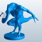 Lizard Beastman Character