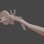 Low Poly Crank Gun