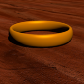 Low Poly Golden Ring