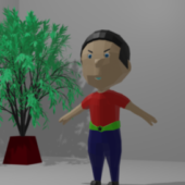 Low Poly Guy With Rigged