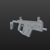Low Poly Kriss Gun