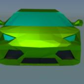 Low Poly Car Lamborghini Avendator