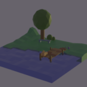 Low Poly Landscape Scene