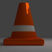 Lowpoly City Traffic Cone