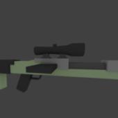 Low Poly Sniper Gun