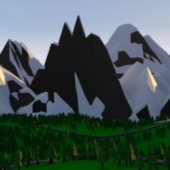 Low Poly Snow Mountain