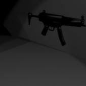 Lowpoly Mp5 Gun