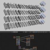 Modular Sci-fi Stairs