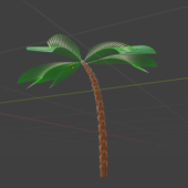 Lowpoly Palm Tree