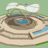 Modern Design Park Fountain