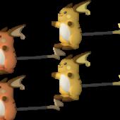 Raichu Pokemon Character