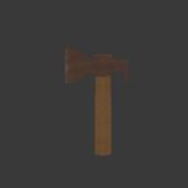 Wooden Rusty Axe