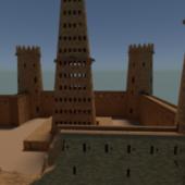 Desert Sand Castle