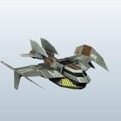 Sci Fi Bomber Robot