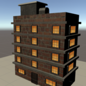 Simple Low Poly High Rise Building
