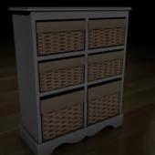 Six Drawer Basket Unit
