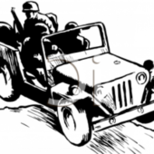 Old Soildier Vehicle Automobile