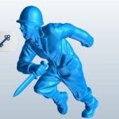 Soldier Fighting Sculpt