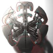 Sphere Bot Sci Fi Robot