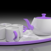 Porcelain Teapot And Cups