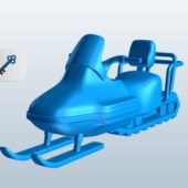 Trail Snowmobiles Vehicle