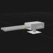 Triple Barrel Turret Gun