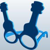 Ukulele Shape Glasses