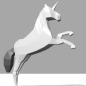 Unicorn Low-poly