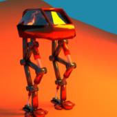 Walk Robot Low-poly