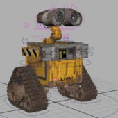 Robot Wall E Rigged