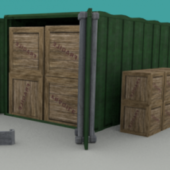 Wooden Warehouse Container