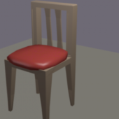 Lowpoly Wood Chair