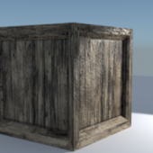 Old Wood Crate Box