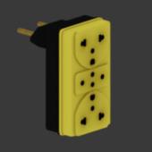 Wall Yellow Socket